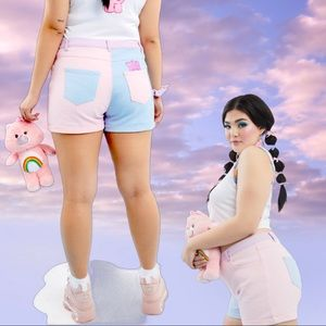 Care Bears Just Add Love Colorblock Shorts